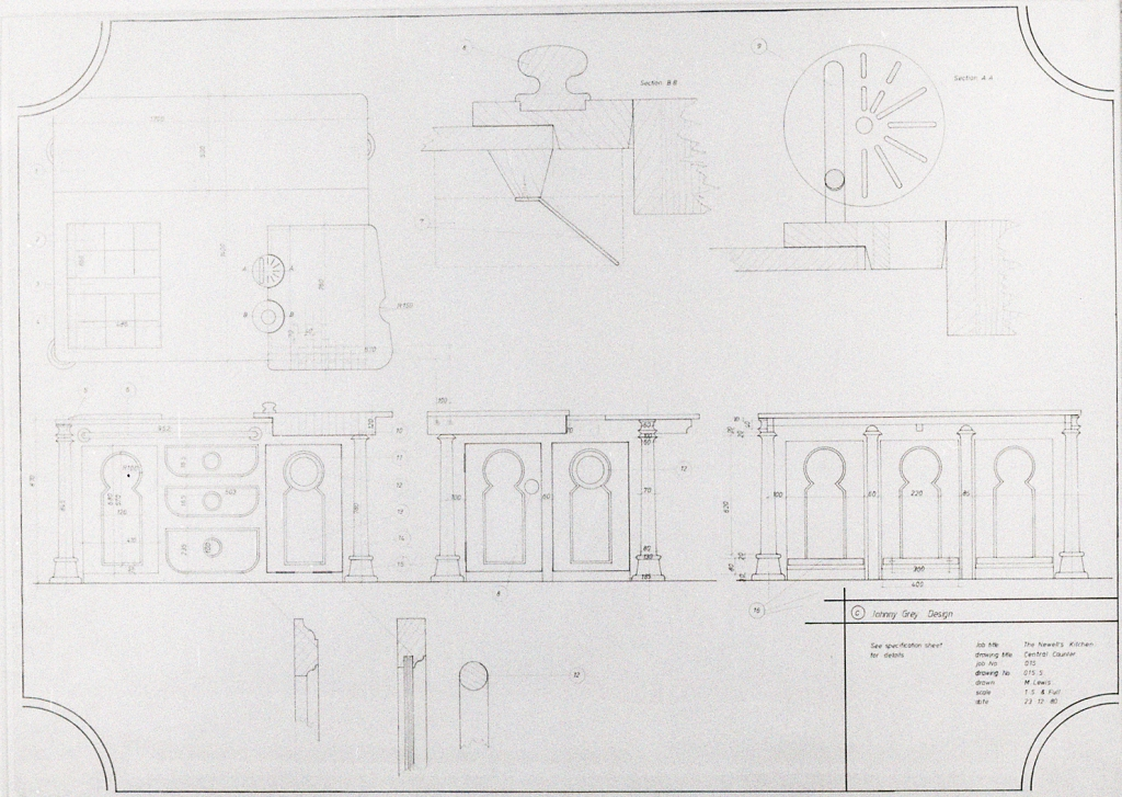 Lewis Design London - Newell's Kitchen Drawings (1)