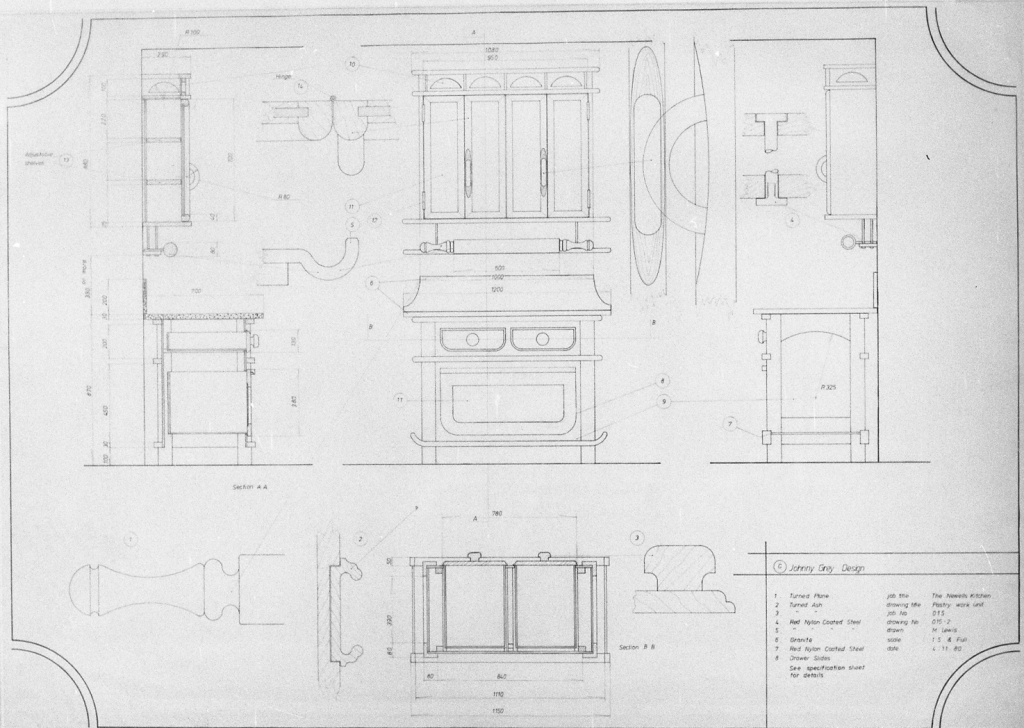 Lewis Design London - Newell's Kitchen Drawings (2)