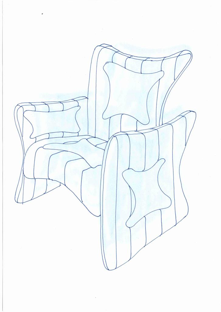 Lewis Design London - Arm Chair Product Drawings (3)