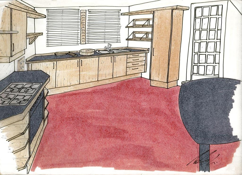 Lewis Design London - Chinese Kitchen Drawing