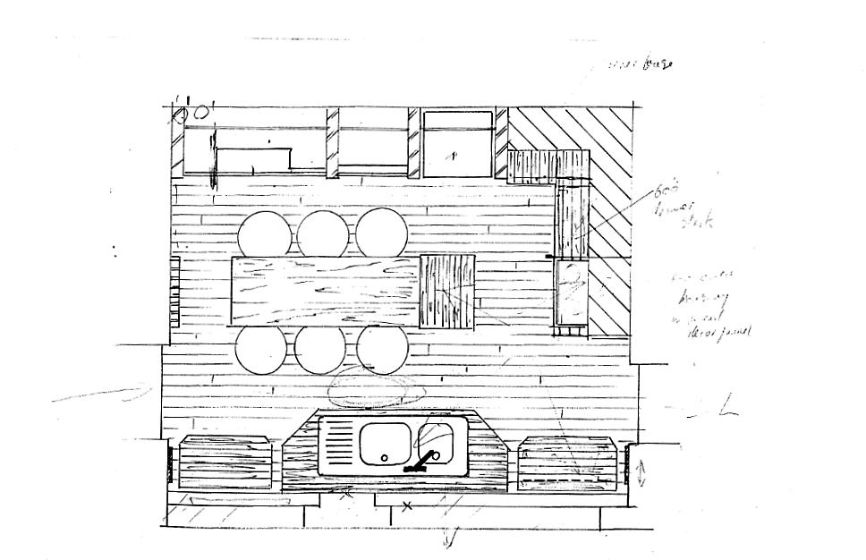 Lewis Design London - Japanese Kitchen Plan