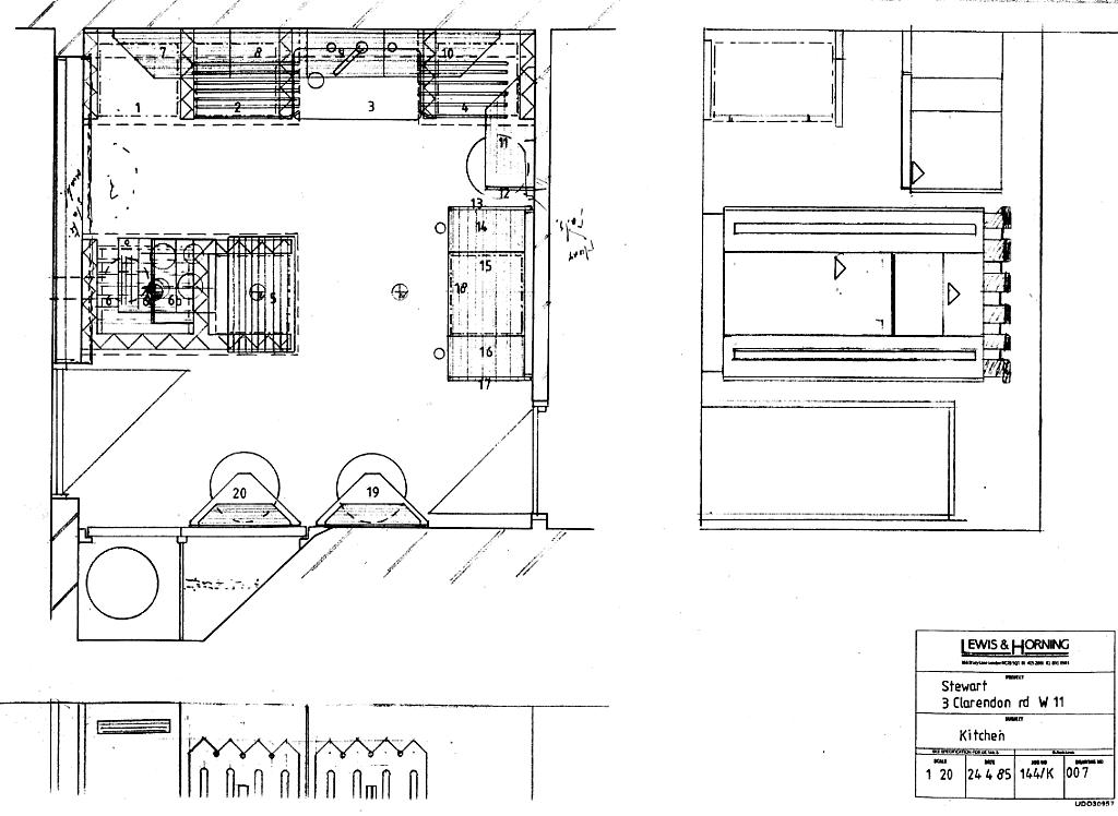 Lewis Design London - Post Modern Kitchen Plan