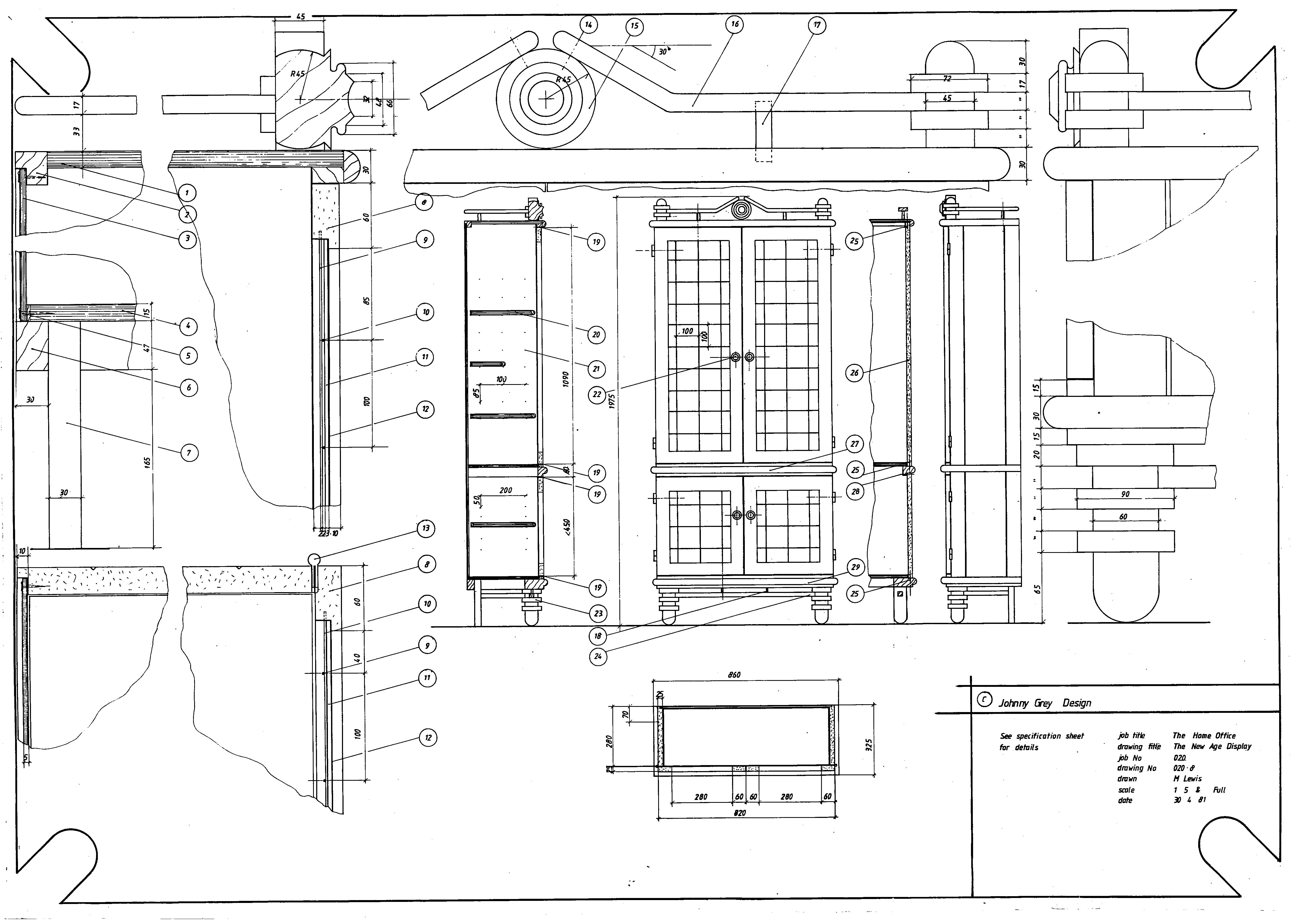 Lewis Design London - The Home Office Collection Drawings Display Cabinet (1)