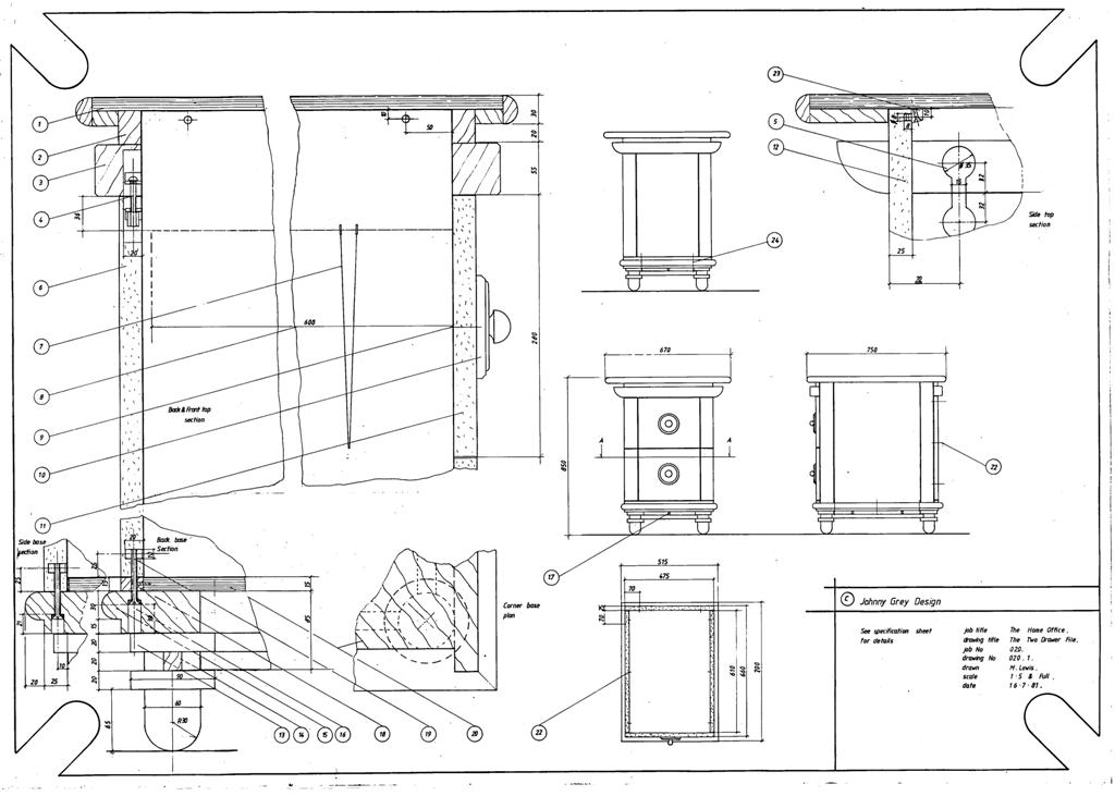 Lewis Design London - The Home Office Collection Drawings Draws (1)