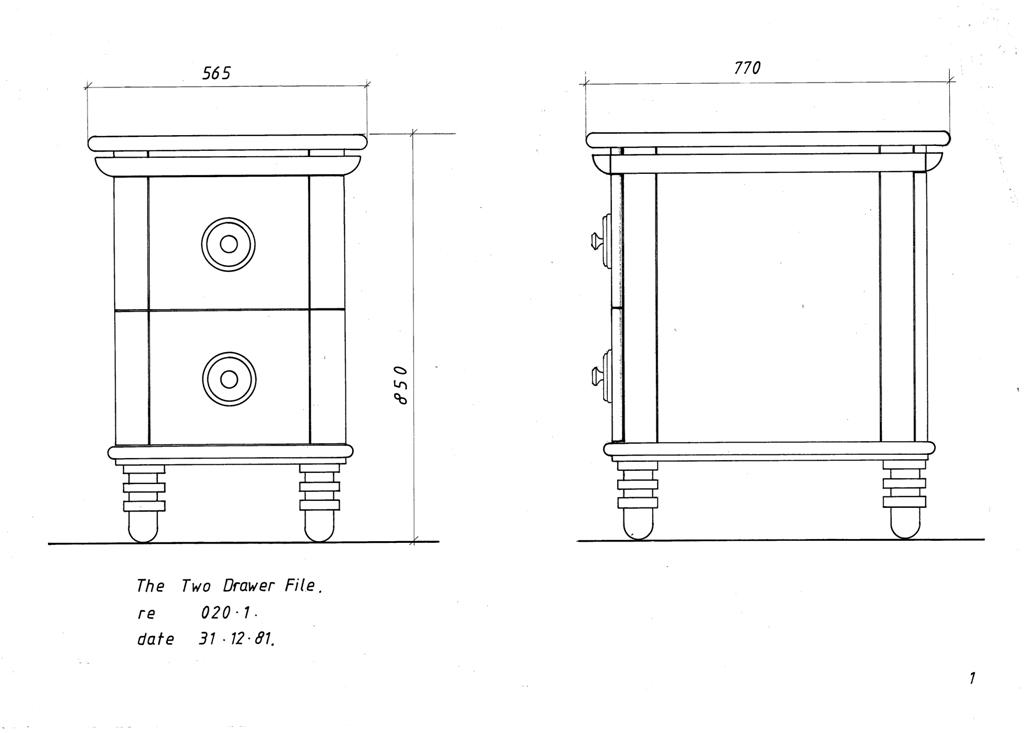 Lewis Design London - The Home Office Collection Drawings Draws (2)