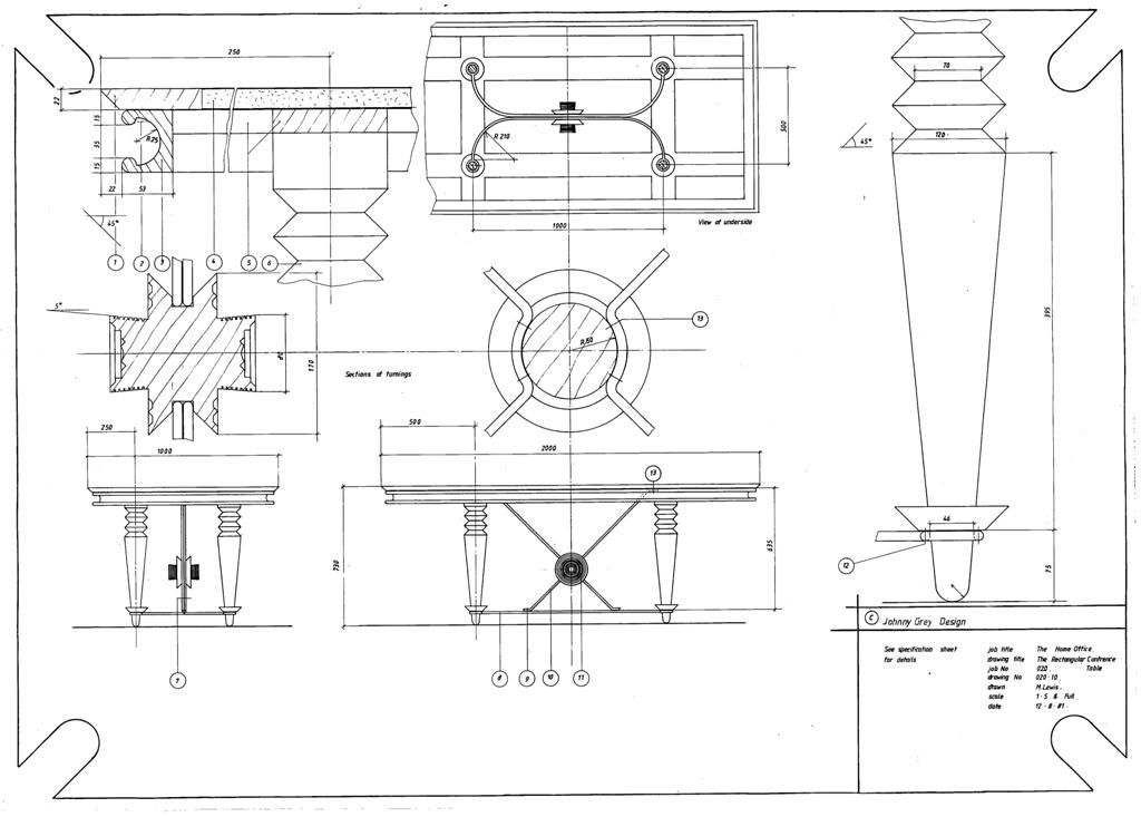 Lewis Design London - The Home Office Collection Drawings Table - Conference