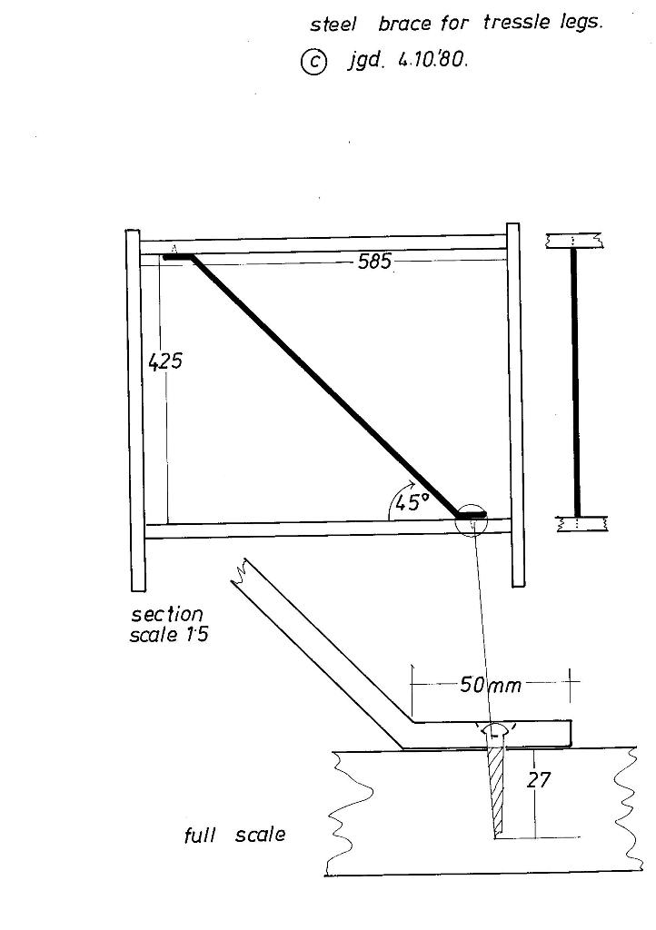 Lewis Design London - The Home Office Collection Drawings Table Leg Fixings (1)