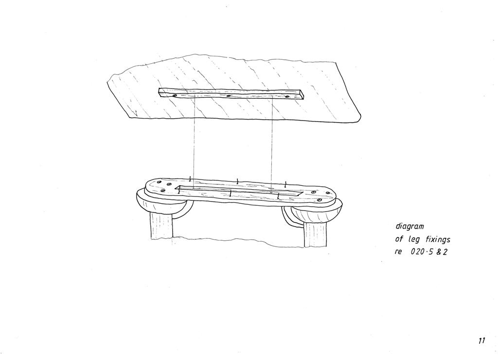 Lewis Design London - The Home Office Collection Drawings Table Leg Fixings (2)