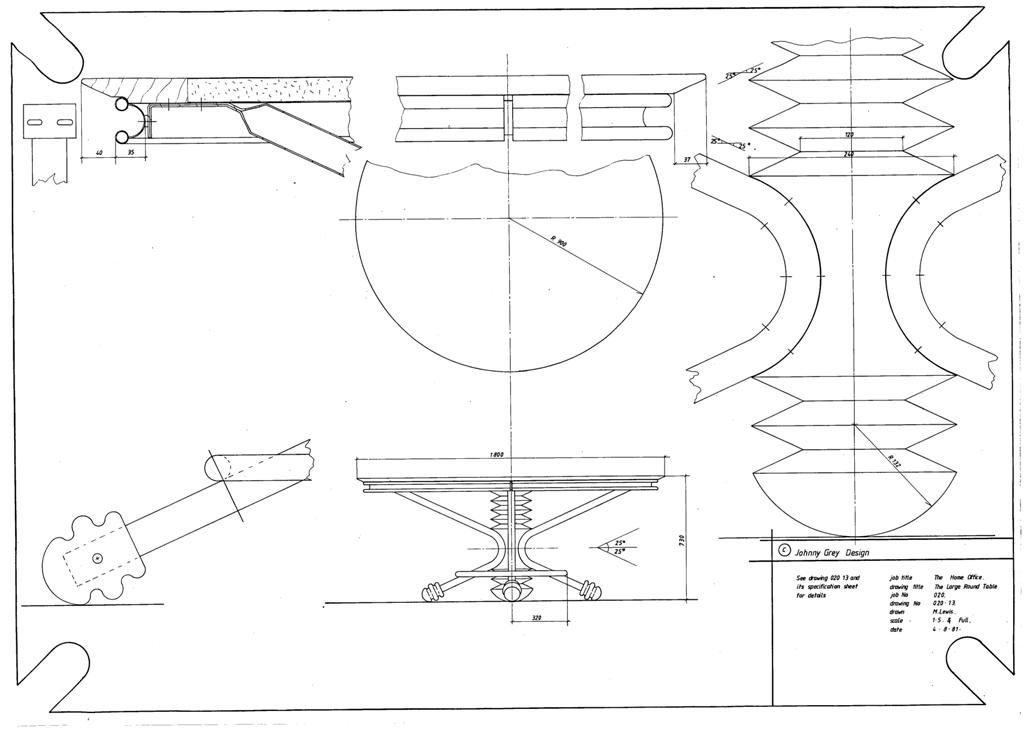 Lewis Design London - The Home Office Collection Drawings Table - Round (3)