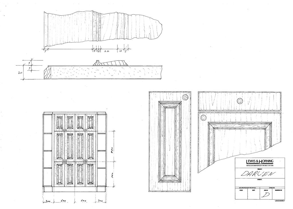 4 Lewis Design London - Chattel Cupboard Doors D
