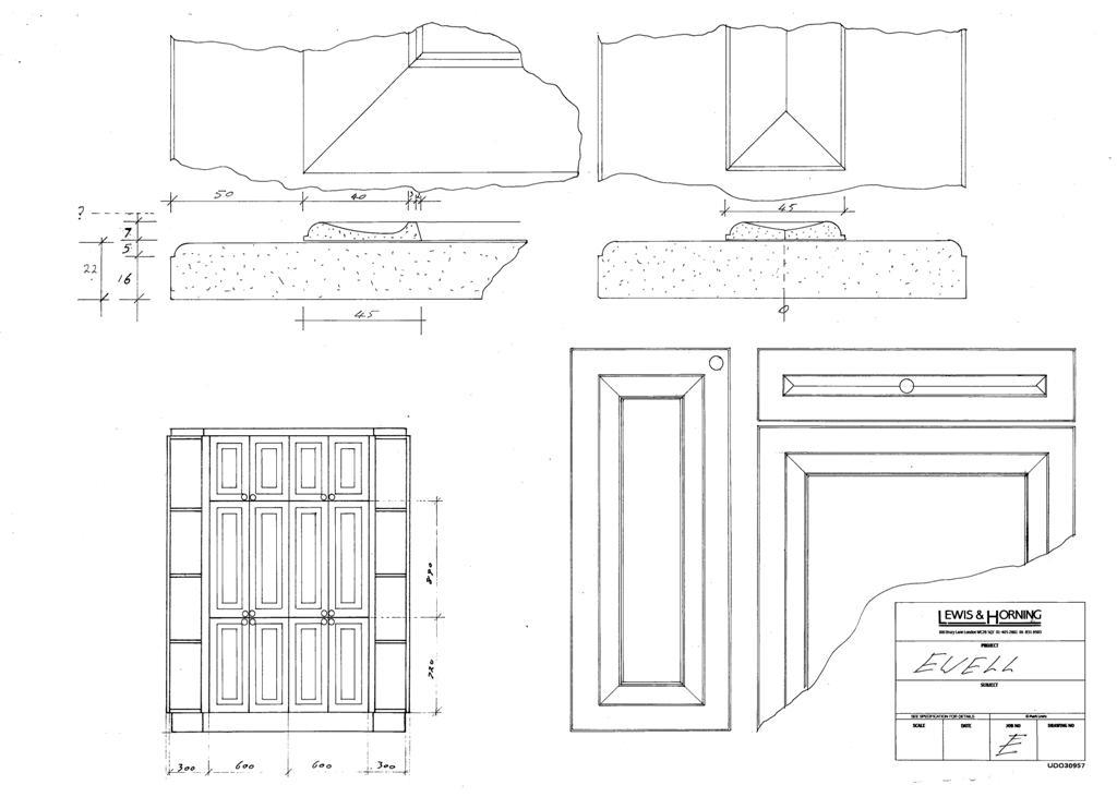 4 Lewis Design London - Chattel Cupboard Doors E
