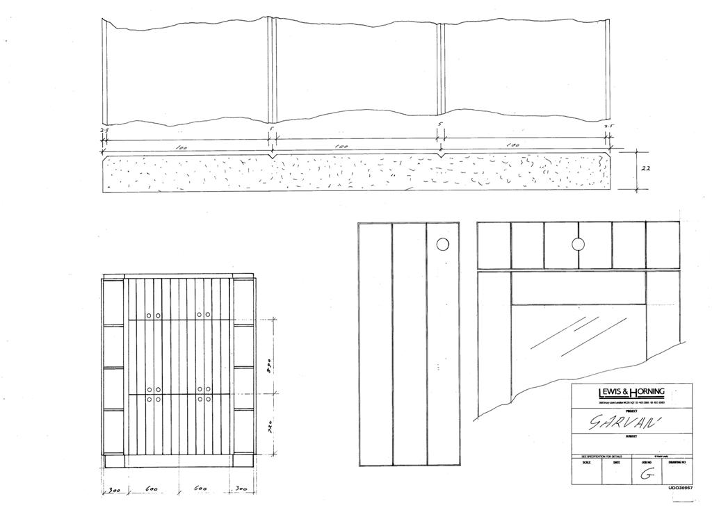 4 Lewis Design London - Chattel Cupboard Doors G