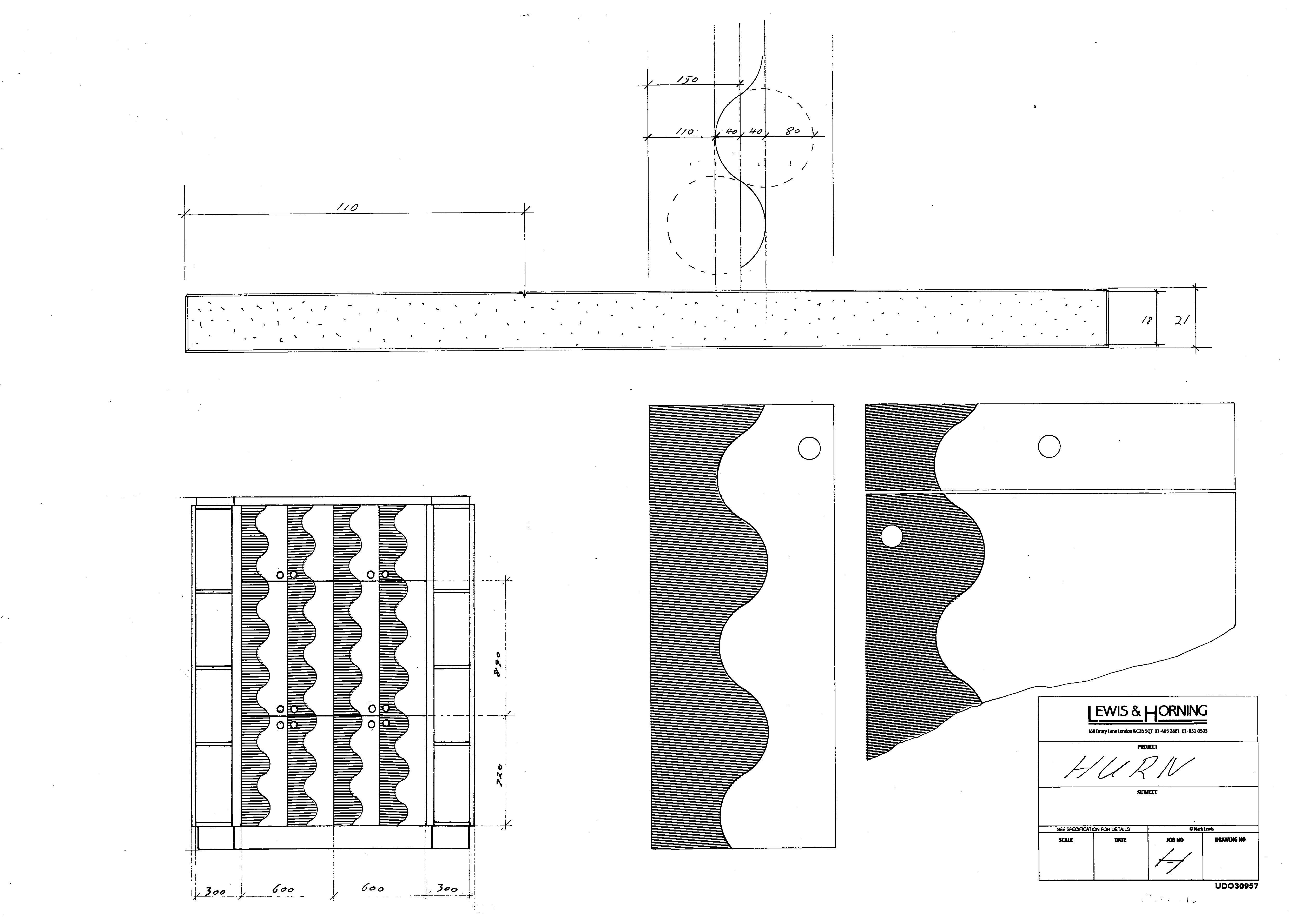 4 Lewis Design London - Chattel Cupboard Doors H