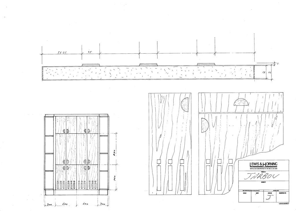 4 Lewis Design London - Chattel Cupboard Doors J