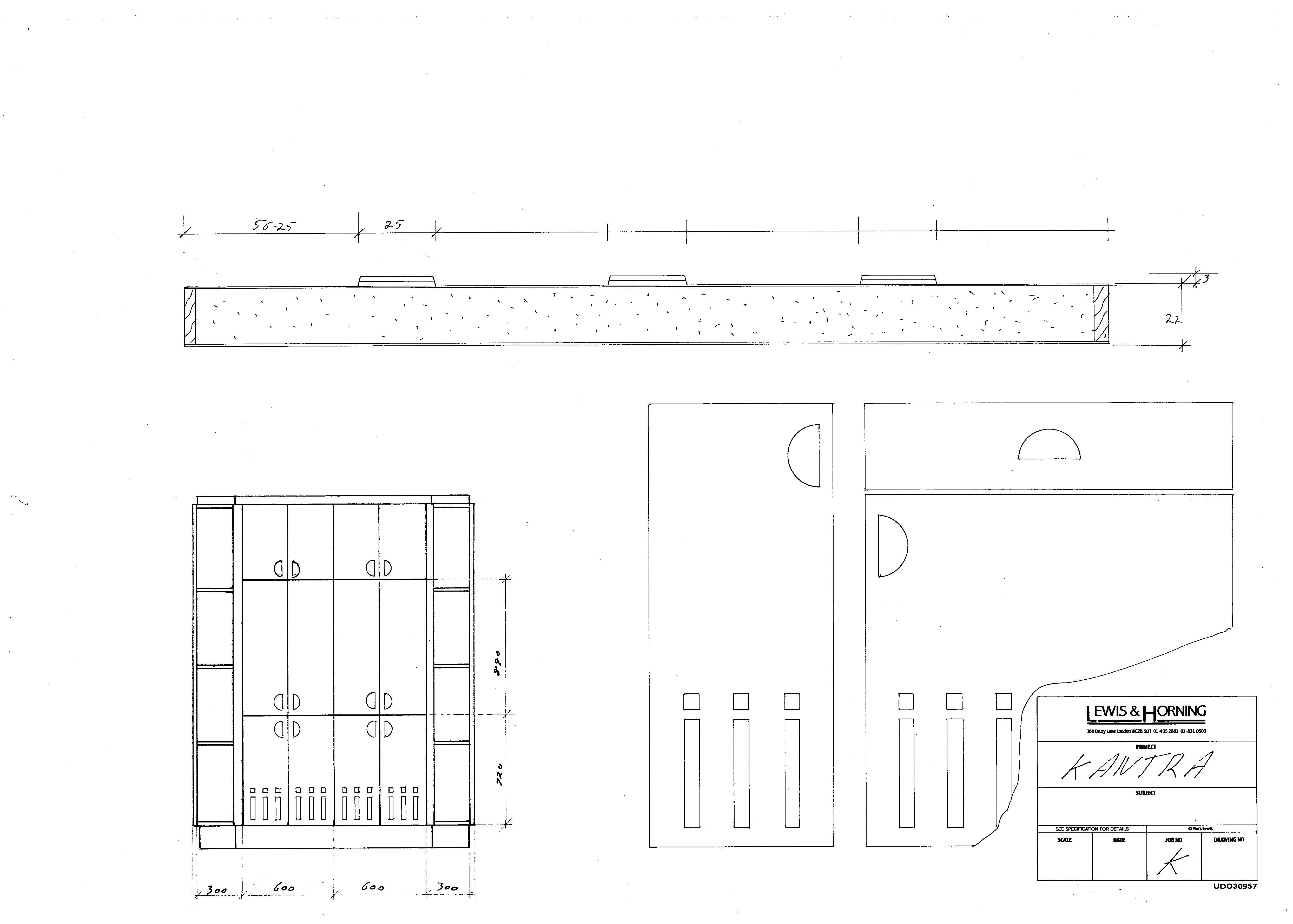 4 Lewis Design London - Chattel Cupboard Doors K