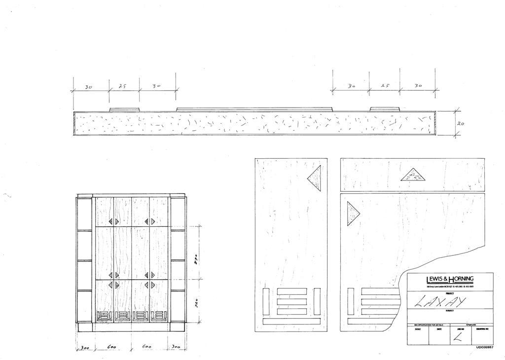 4 Lewis Design London - Chattel Cupboard Doors L