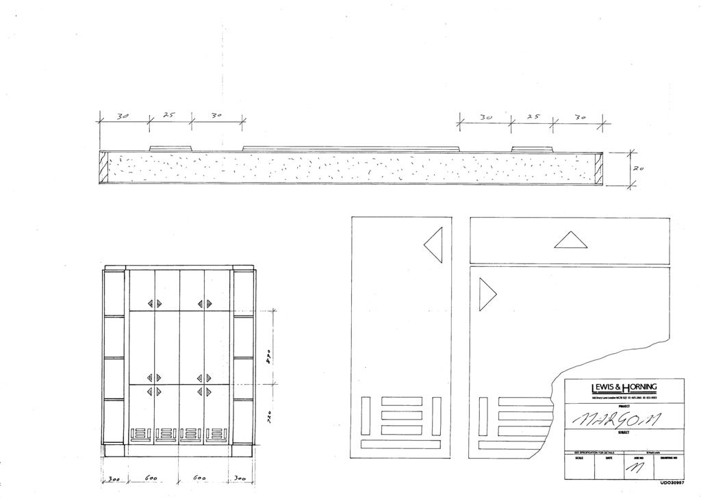 4 Lewis Design London - Chattel Cupboard Doors M