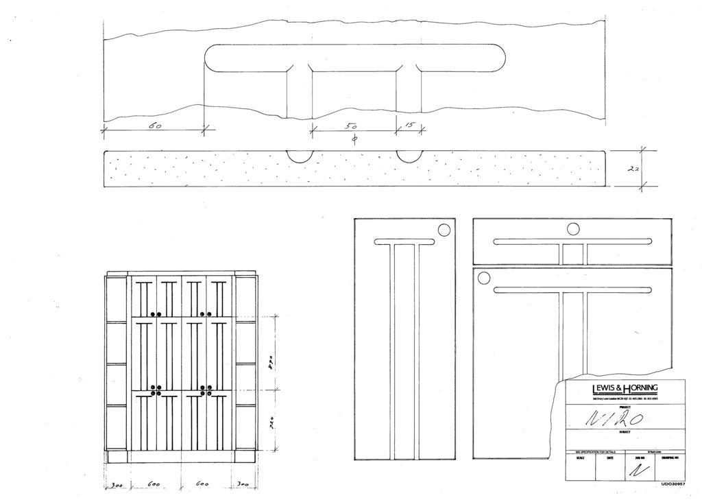 4 Lewis Design London - Chattel Cupboard Doors N