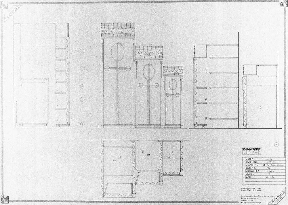 Lewis Design London - Jenks' Kitchen Drawings (1)