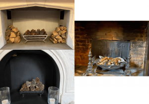 3 fireplaces